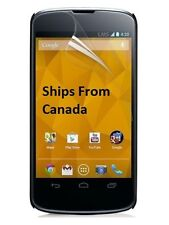 2 X Ultra Clear Front Screen Protector Cover LG Google Nexus 4 E960 Free Canada
