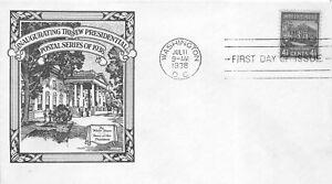 809 4 1/2c WHITE HOUSE - PREXY - Historic Art - Coakley
