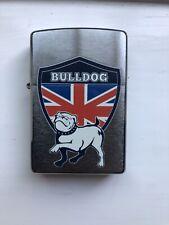 Genuine ZIPPO Lighter UK BULLDOG Design BRAND NEW Brushed Chrome