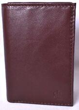LAUREN RALPH LAUREN Men's Burnished Brown Tri-Fold/Trifold Wallet >NEW<