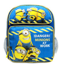 """Despicable Me Minions Medium Backpack School Bag 14"""" Licensed by Disney- Newest"""
