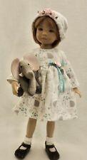 "Elephant Dress, Hat & Elephant - fits 13"" Little Darling by Dianna Effner"
