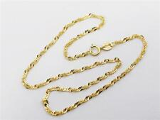 "10K 10"" Solid Yellow Gold Singapore Rope Twist Ankle Bracelet 10"" Anklet 1.5mm"