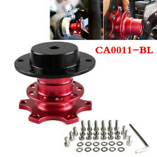 Car SUV Steering Wheel Red Quick Release HUB Racing Adapter Snap Off Boss Kit