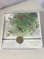 VTG Hallmark Vintage Postalettes Set of 12 New Fold Up Letters Postcards Birds