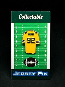 Green Bay Packers Reggie White jersey lapel pin-Classic CHEESE Collectable