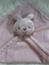 Edgehill Collection One Plush Pink Bunny Rabbit Baby Security Blanket Lovey