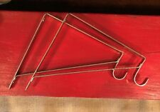 Set of 2 Closet / Wall Shelf & Rod Hanging Heavy Duty Steel Brackets NWT