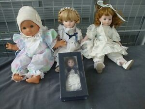 verschiedene Puppen, 3 Porzellanpuppen,1 Zapfpuppe - siehe Fotos