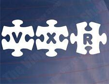 Car Stickers VXR JIGSAW Novelty Vauxhall/Opel Window Bumper - Various Colours