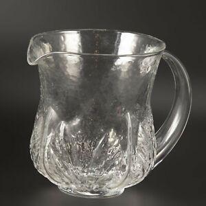 Orrefors EDEN jug 16cm high Eden botanic design pitcher