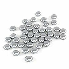 1 LB Silver Glass Pebbles, Flat Bottom Gem Stones Marbles Vase Fillers 100 PCS