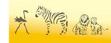 Tierschablonen, Wandschablonen, Malerschablonen, Dekorschablone,  Africamix 2