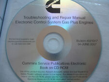 DISC Cummins Troubleshooting Repair C & B Gas Plus Engines Service Shop Manual