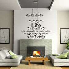 removable wall decals home decor life is not measured stickers quotes vinyl art - Home Decor Decals