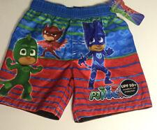PJ Mask Toddler Baby Boy Swim Short Board Shorts PJ Mask Logo Blue Size 3T
