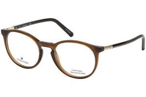 SWAROVSKI SK5217 048 Eyeglasses Shiny Dark Brown Frame 50mm