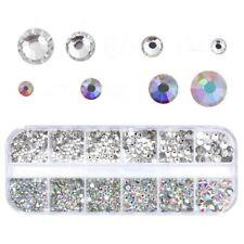 1Box Nail Art Rhinestones Glitter Crystal Gem 3D Nail Tips Home Decoration Usa