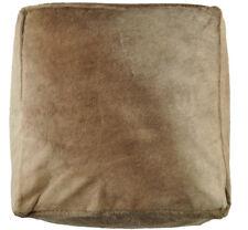 peau de vache Pouf 60 60 30 cm Beige Champagne Tabouret repose-pieds