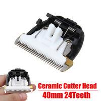 24 Teeth Grooming Trimmer Clipper Blade Ceramic Cutter Head For Pet Hair