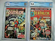 Marvel ASTONISHING TALES #33 CGC 7.5 and #34 9.0 Deathlok 1976