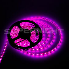5M 3528/5050 SMD 300 LED Light Strip Waterproof Cool Warm White Red Blue Pink