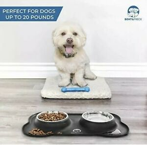 Bent & Freck Dog Food Bowls for Small Dogs Cats Stainless Steel Medium Pet Bowl