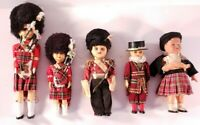 Lot Of 5 Vintage Plastic Dolls British Military Ceremonial Dress. Some Need Work