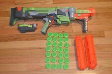 Nerf Vortex Nitron Lot - Gun, 2 Clips, Scope, 28 Discs Works Perfectly Boy Toys