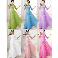 Women's Lace Bridesmaid Formal Long Dress Maxi Cocktail Evening Party Ball Gown