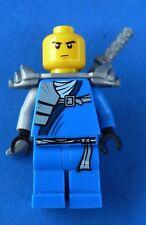 LEGO NINJAGO 9449 BLUE NINJA MINIFIGURE JAY ZX WITH SWORD NO HELMET