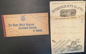 H2433.The Great North Western Telegraph Co. 1900s of Canada booklet & envelope o