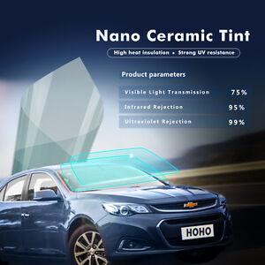Car Nano Ceramic/UV Proof Solar Tint Safety Window Security Vinyl VLT 75% Tint