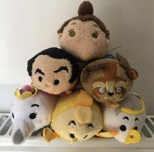 Nwt Set Of 6 Disney Beauty & The Beast Character Plush Tsum Tsum Toys