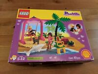 New Vintage LEGO #2555 Belville Swing Paradisa Lifeguard Shell Oil set