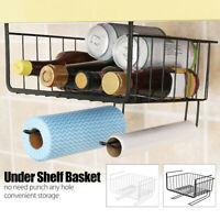 Storage Basket Rack Under Shelf Cabinet Organizer Holder for Kitchen Pantry Desk