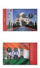India 6 Coin Type Set 10, 25, 50, Paisa, 1, 2, 5, Rupees BU