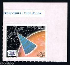 ITALIA UN FRANCOBOLLO ESPLORAZIONE DI MARTE ASI SPAZIO 2005 nuovo**
