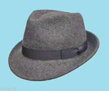 Chapeaux grises pour homme en 100% laine