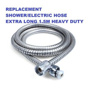 """Extra Long For Mira Triton Groh Stainless Steel Flexi Shower Hose 1/2"""" 1.5METRE"""