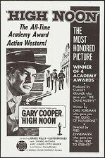 HIGH NOON Gary Cooper original one sheet poster Western R66 Grace Kelly RARE VF
