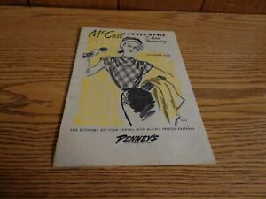 1946 McCall JcPenny Co Style News Home Dressmaking Printed Patterns Adv Paper