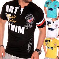 ZAHIDA Herren T-Shirt Shirt Clubwear V-Neck Designer Top 2in1 Polo Wow Disco NEU
