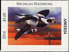MICHIGAN  #39  2014 STATE DUCK STAMP LONG TAIL DUCK  by Christopher Smith