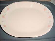 CORELLE FOREVER YOURS 12.25 IN OVAL SERVING PLATTER VGUC FREE SHIPPING IN USA