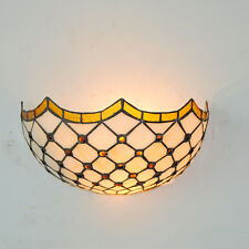 European Tiffany Stained Glass Lampshade Wall Lamp Home Indoor Decor Light WL311