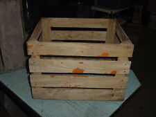 VINTAGE WOOD APPLE FRUIT POTATO CRATE BOX 17 x 14 x 12
