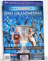 2003 AFL Football Record Grand FINAL & Rounds BRISBANE LIONS Premiers Carlton
