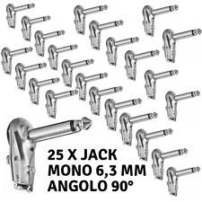 1//4 pollici ad angolo 90/° Proel S240 Connettore Audio Jack mono professionale 6.3 mm