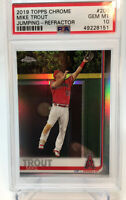 2019 Topps Chrome  Mike Trout Refractor PSA 10 GEM MINT  POP 288